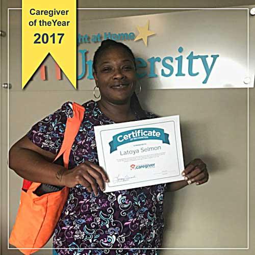 Caregiver of the Year Latoya Selmon