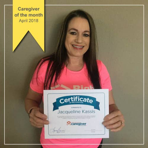 April Caregiver of the Month Jackie Kassis