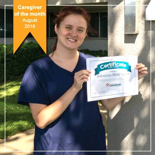 August Caregiver of the Month