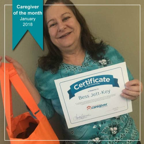 Caregiver of the Month January 2018