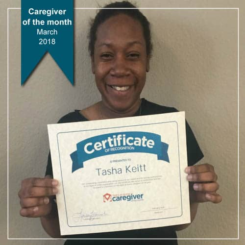March Caregiver of the Month Tasha Keitt