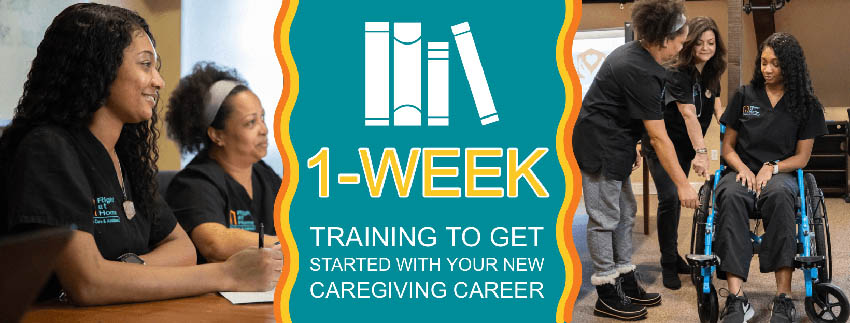 1 Week Training for Caregiving Career Graphic