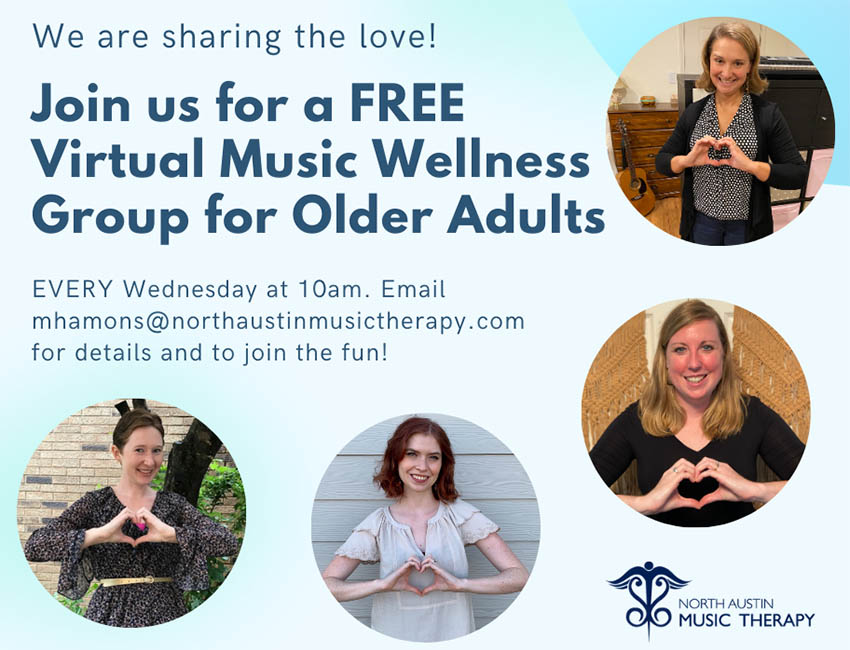 Free Weekly Virtual Music Wellness Group for Older Adults
