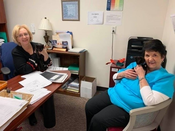Karen and Hallie finding stress relief
