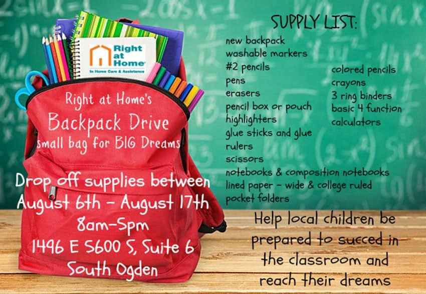 August 2018 Backpack Drive