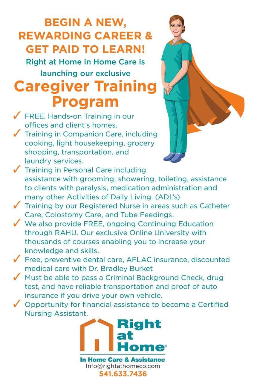 caregiver training program flyer