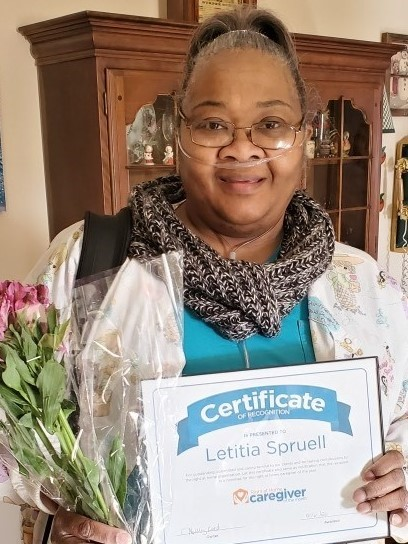 December 2019 Caregiver of the Month Letitia Spruell