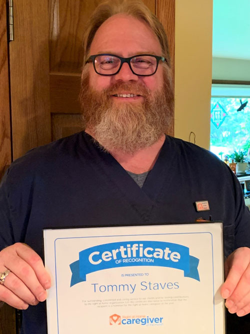 Caregiver of the Month Tommy Staves