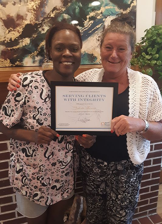 Caregiver of the Month of July 2019