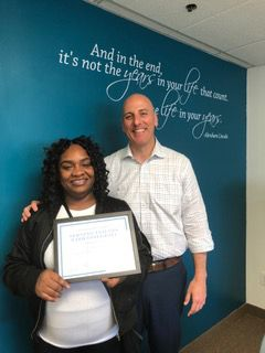 Anisha Butler, Caregiver of the Month of May