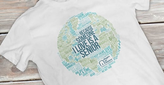 Because Someone I Love is a Senior t-shirt