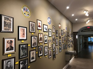 Veteran's Photo Wall at Celebration Village of Acworth Georgia
