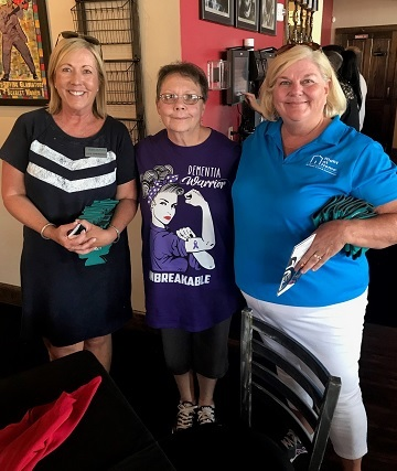 Right at Home Woodstock Owner Lori and Staff Member Julie with Featured Alzheimer's Music Fest Speaker Janice Swink