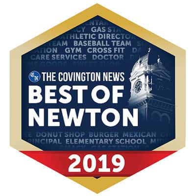 The Covington News Best of Newton 2019 award