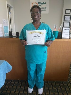 Cathie Louder Caregiver of the Month Right at Home East Atlanta and Right at Home South Atlanta