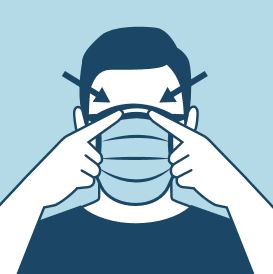 CDC cloth face mask icon front