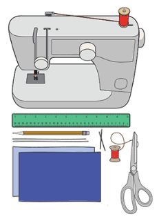 illustrated sewing machine