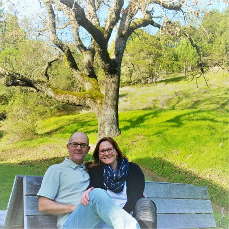 Jessica and Joe Price - owners of Right at Home Marin County