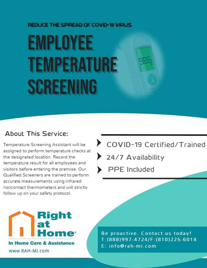 Employee Temperature Screening flyer