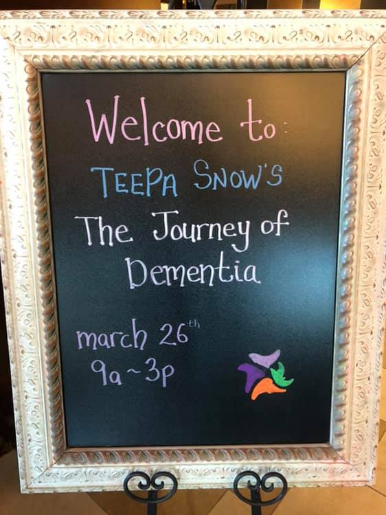 Welcome sign for Teepa Snow Dementia presentation