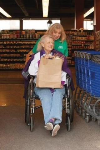 caregiver woman in wheelchair