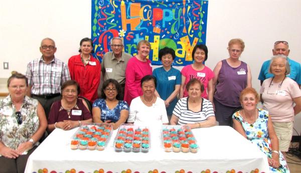 Birthday cupcake celebration at Cypress Senior Center