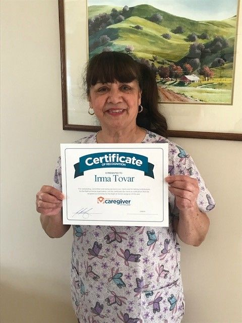 Irma Tovar 2018 Caregiver of the Year