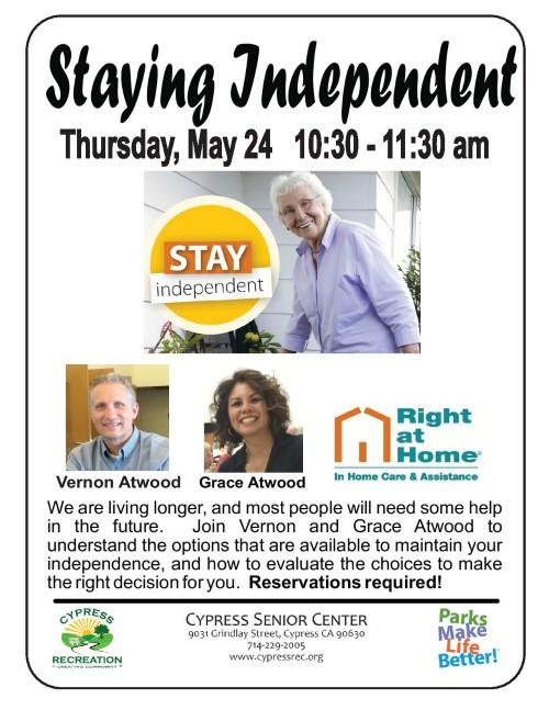 Staying Independent Program at Cypress Senior Center