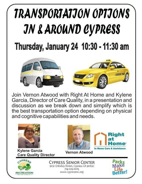 Transportation Options In and Around Cypress Workshop