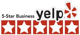 Yelp 5-Star Business badge