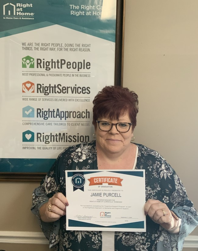 Staff with certificate in specialized dementia care via the cognitive support program