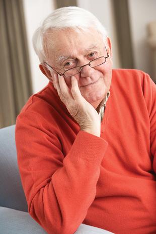 Portrait of Elderly Man in Sweater