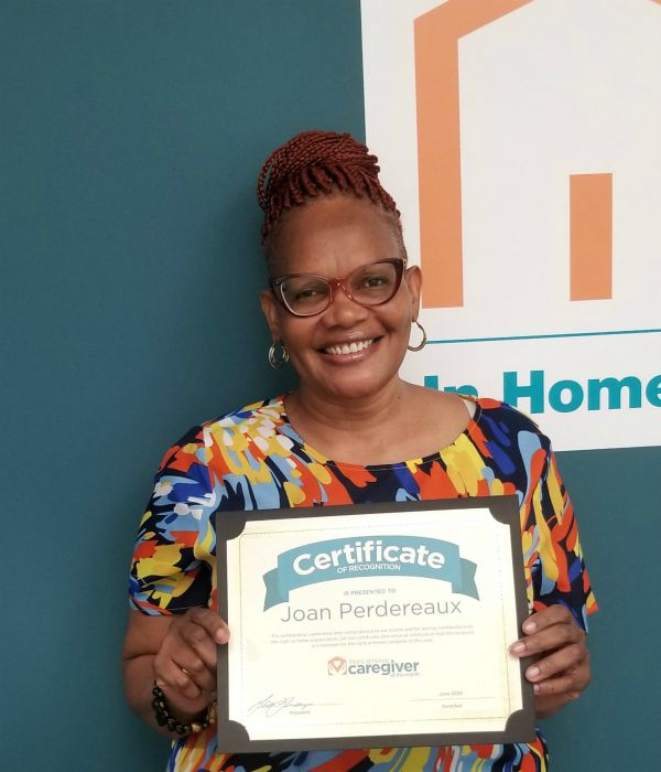 Right at home westchester ny caregiver of the month for June 2020 - Joan P.