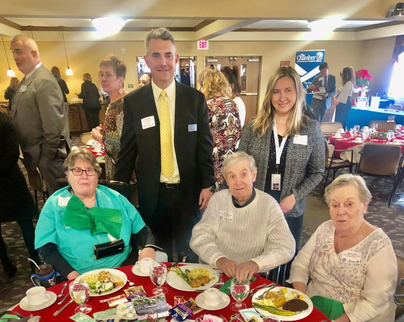 Clients enjoying the holiday lunch