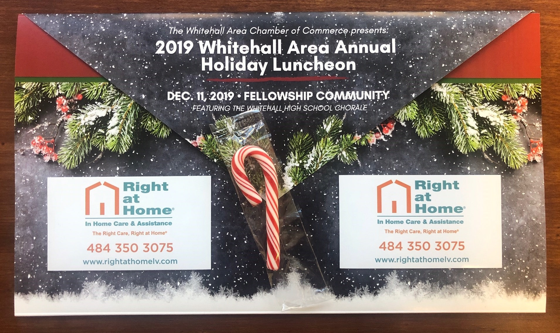 Right at Home is a proud sponsor of the holiday luncheon