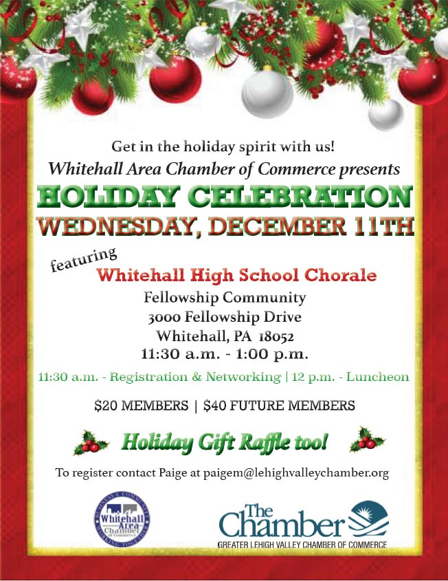Holiday Luncheon poster