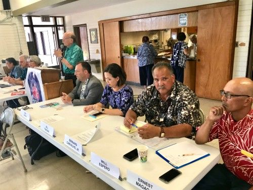 Lt. Governor candidates at the Kokua Council meeting