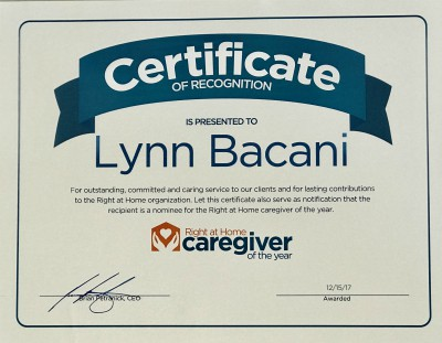 Caregiver of the Year award Lynn Bacani