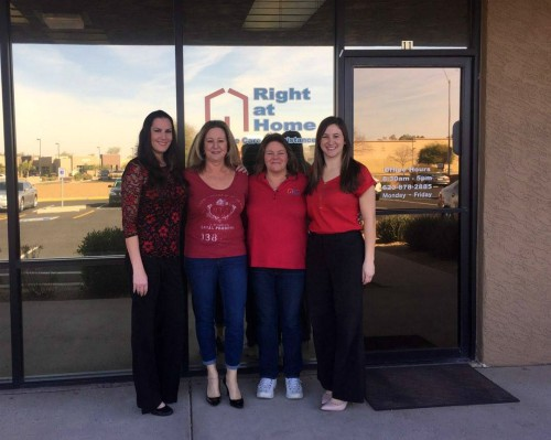 Right at Home Northwest Phoenix wears Red for National Heart Health Month