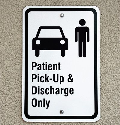Hospital Discharge Sign - Pexels Stock Photo