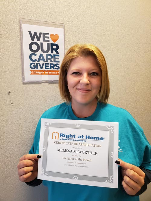 Rhome TX Caregiver of the Month