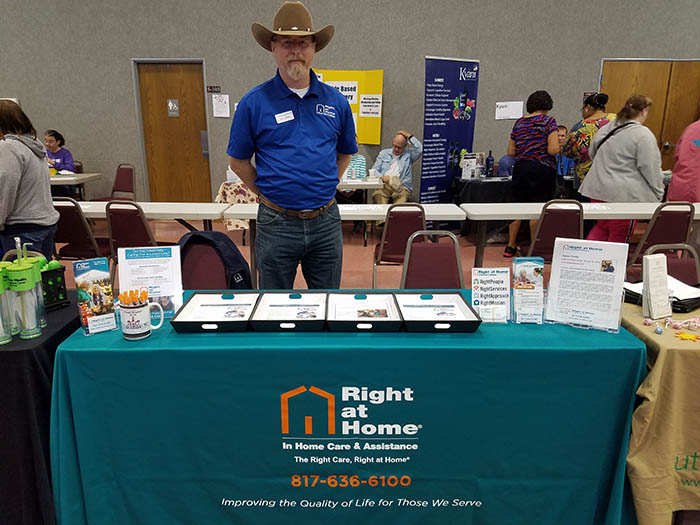Weatherford Health Fair Right at Home Booth
