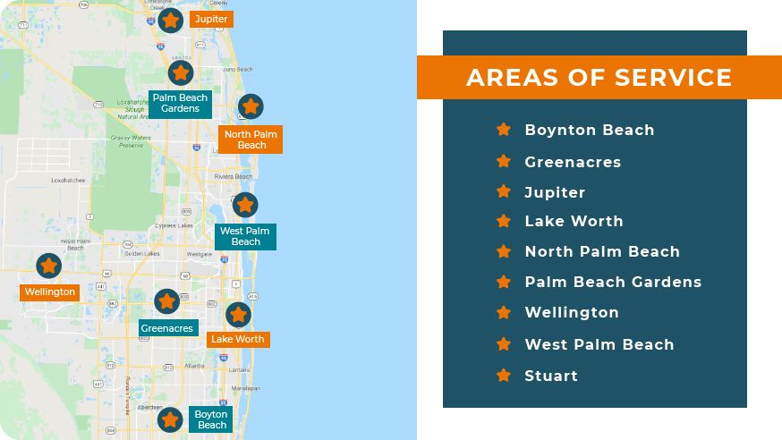 Right at Home Palm Beach provides senior home care in the following areas