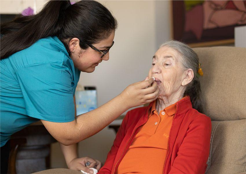 Elderly taking meds