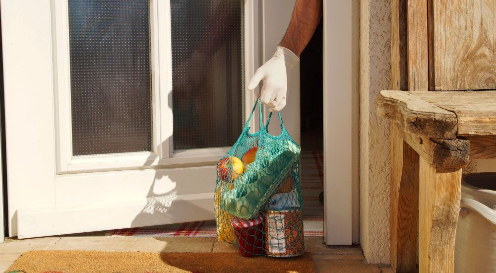 Groceries delivered during pandemic