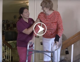 Right at Home caregiver and client matching