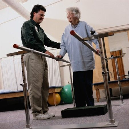 Senior Receiving Physical Therapy