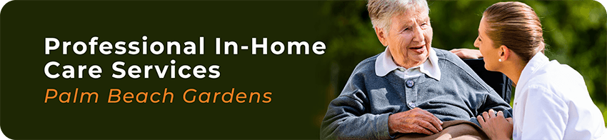 banner about professional in-home care services