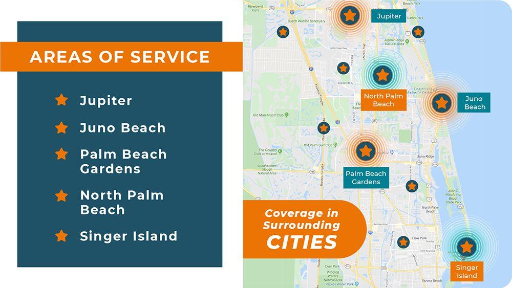 Palm Beach Gardens areas of service