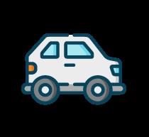 trasnportation white car badge